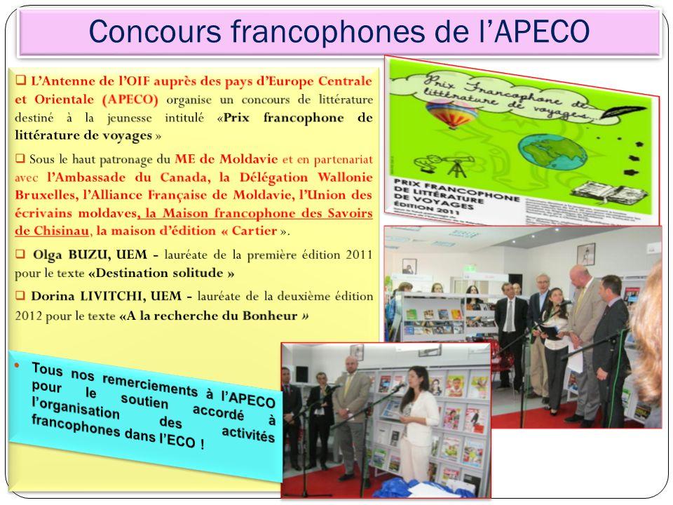 Concours francophones de l'APECO