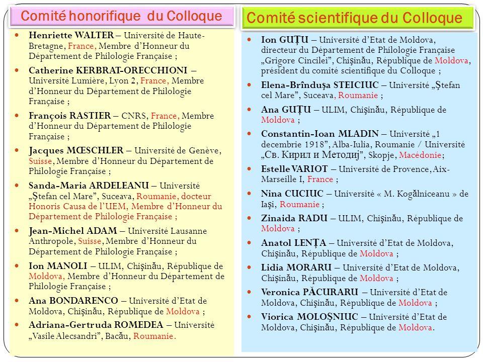 Comité honorifique du Colloque