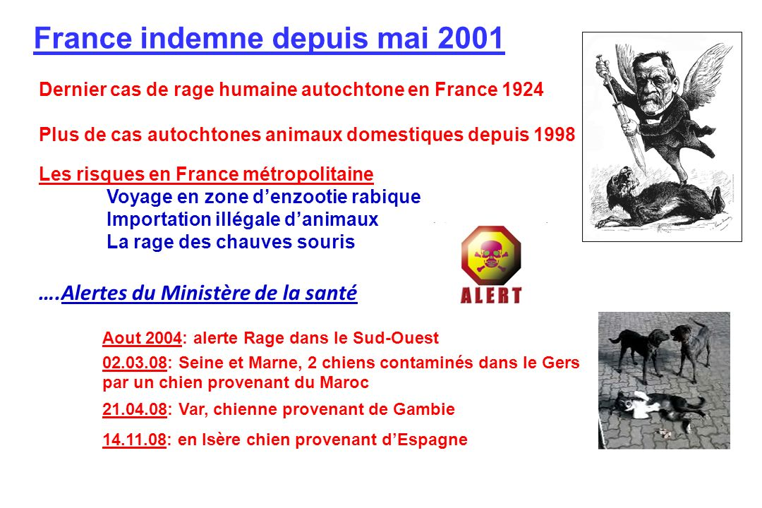 France indemne depuis mai 2001