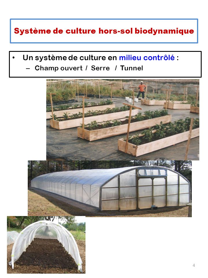 Système de culture hors-sol biodynamique