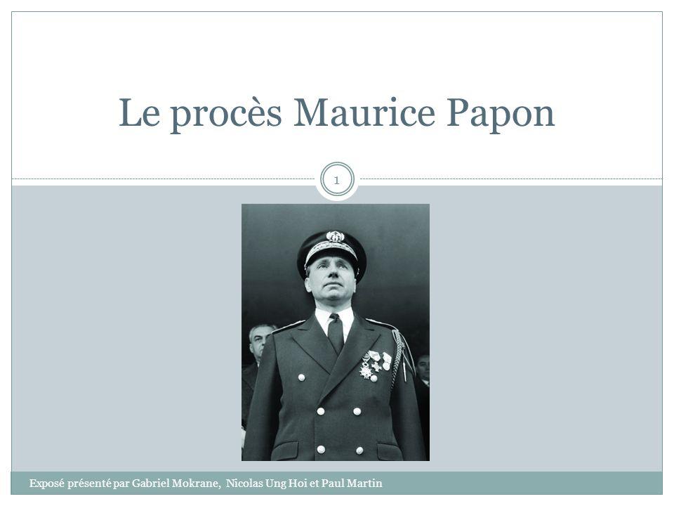 Le procès Maurice Papon