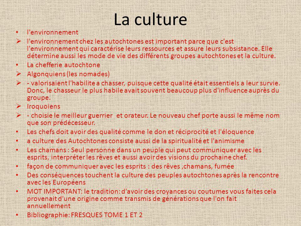 La culture l environnement