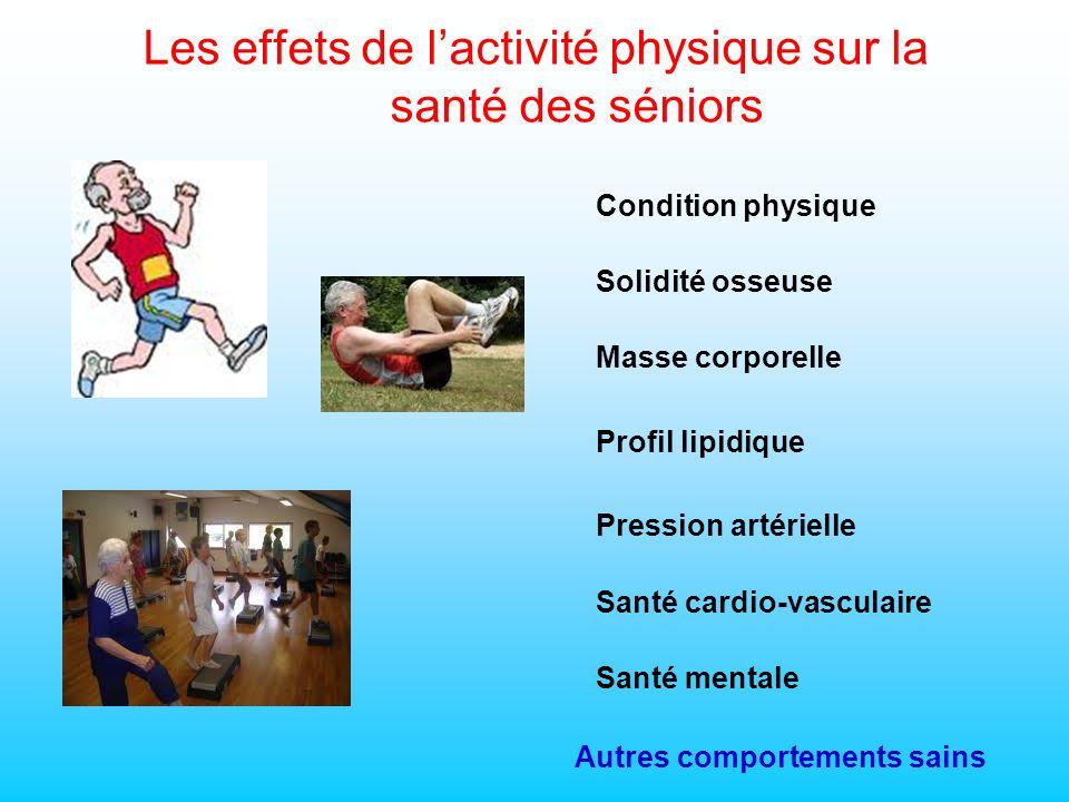 Les effets de l'activité physique sur la santé des séniors