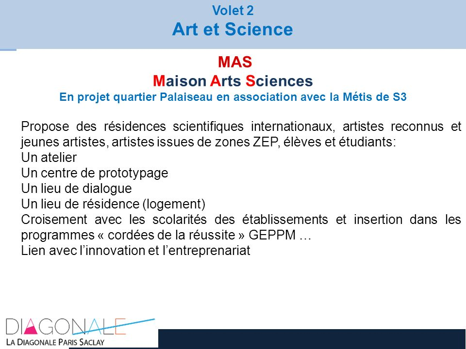 En projet quartier Palaiseau en association avec la Métis de S3