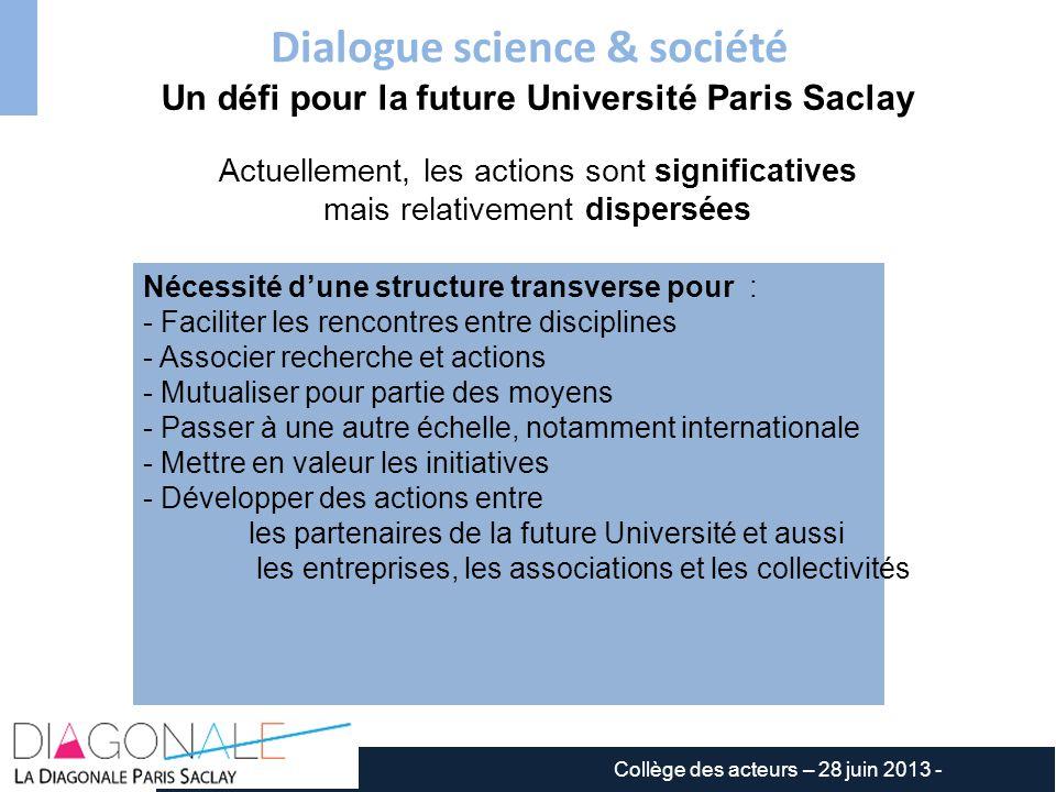 Dialogue science & société