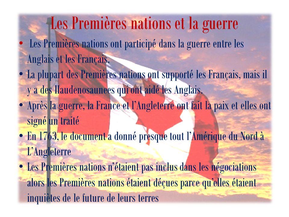 Les Premières nations et la guerre