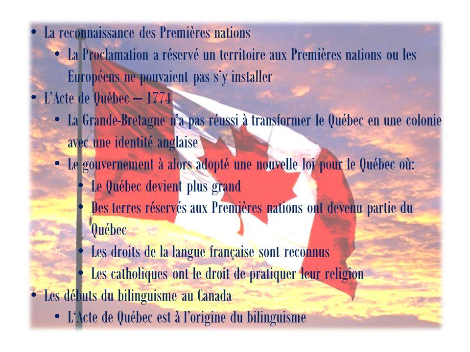 La reconnaissance des Premières nations
