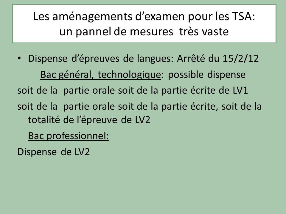 Les aménagements d'examen pour les TSA:
