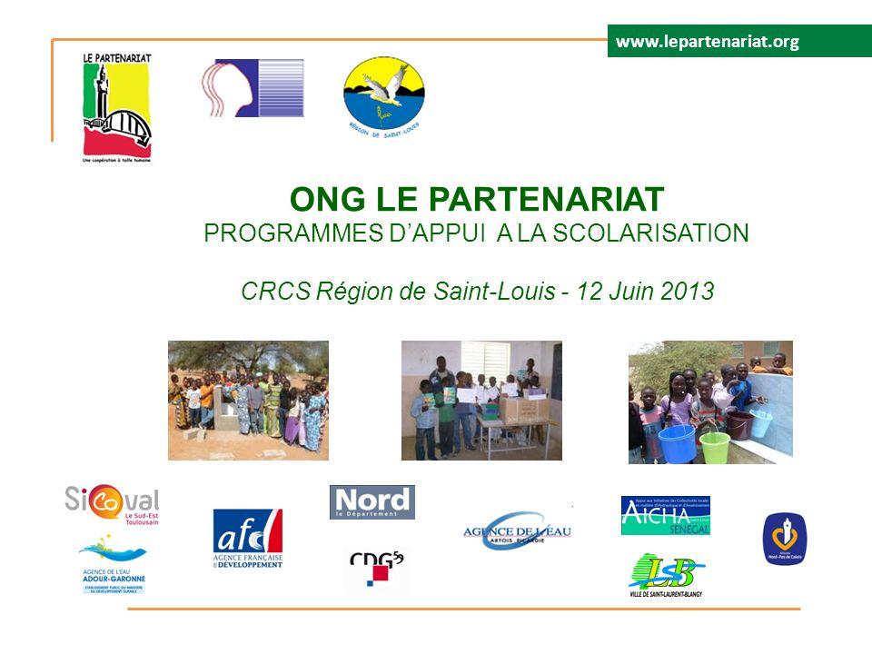 ONG LE PARTENARIAT PROGRAMMES D'APPUI A LA SCOLARISATION