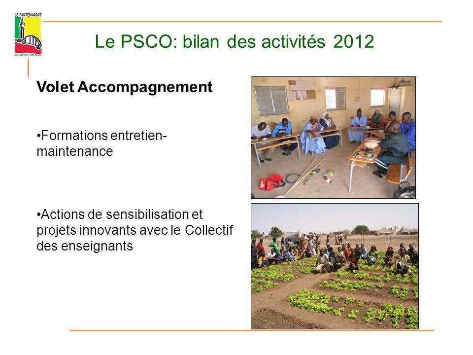 Le PSCO: bilan des activités 2012