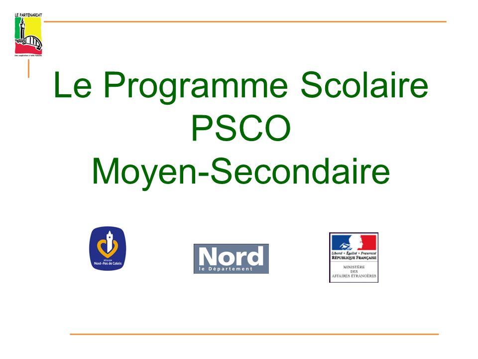Le Programme Scolaire PSCO Moyen-Secondaire