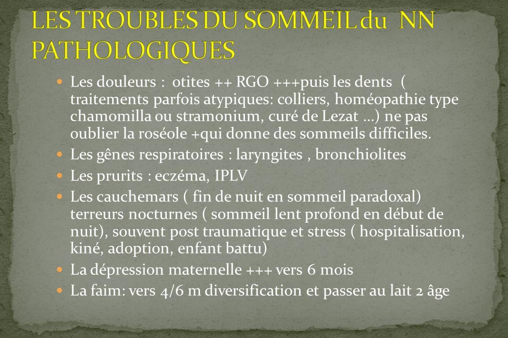 LES TROUBLES DU SOMMEIL du NN PATHOLOGIQUES