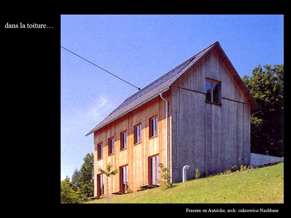 dans la toiture… Fraxern en Autriche, arch: cukrowicz-Nachbaur