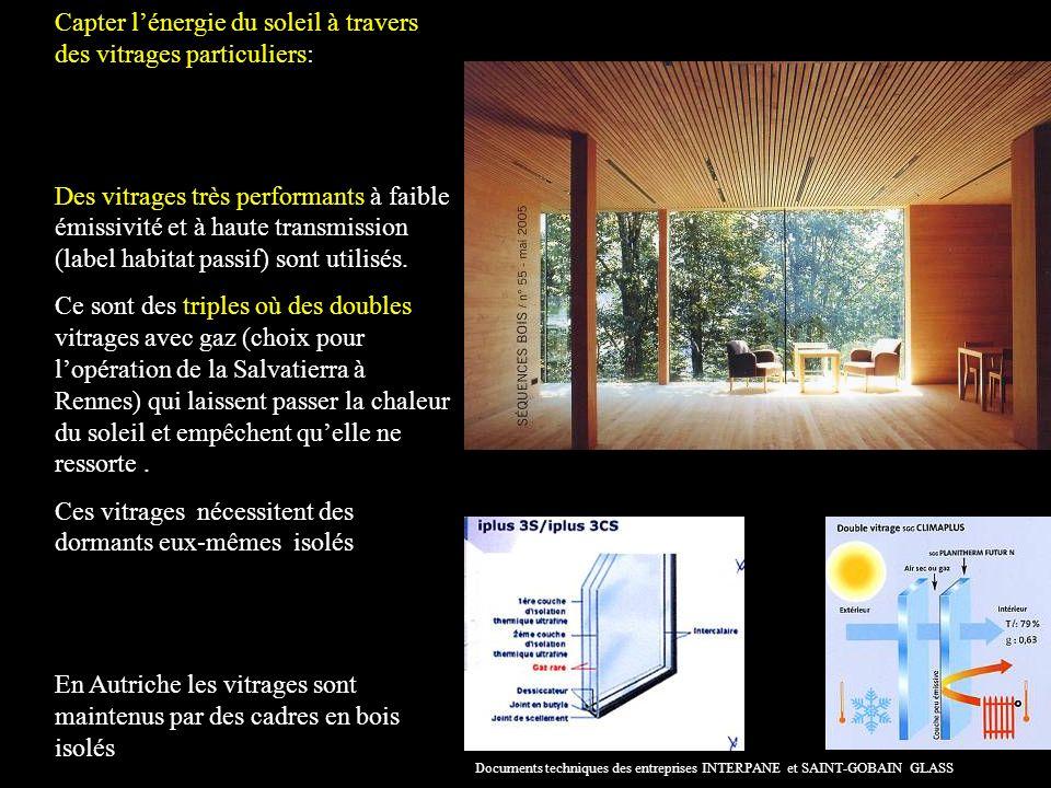 Capter l'énergie du soleil à travers des vitrages particuliers: