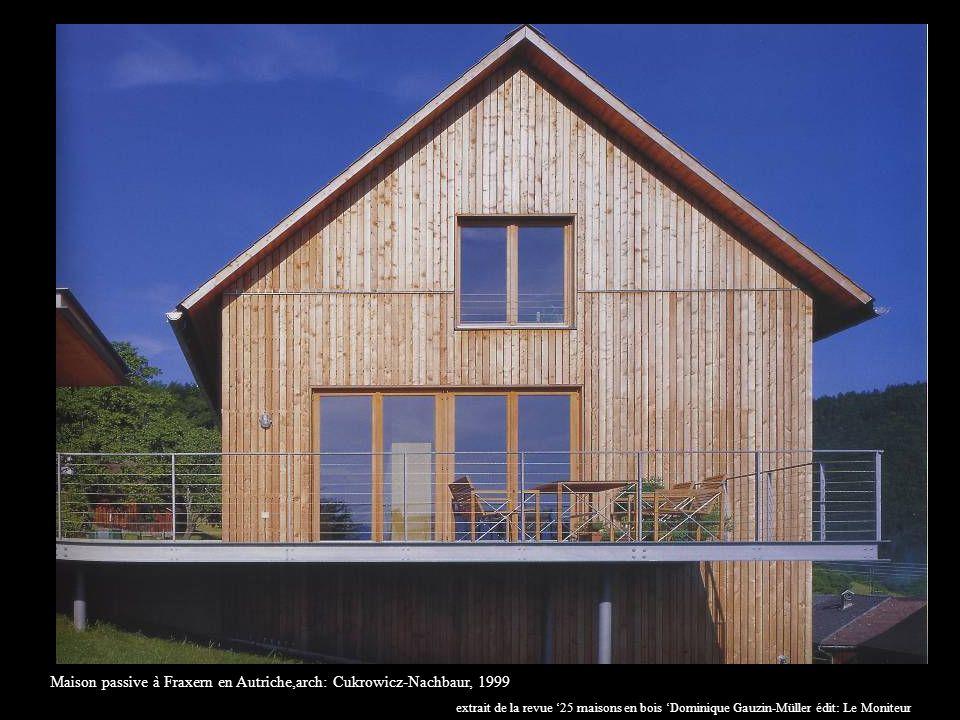 Maison passive à Fraxern en Autriche,arch: Cukrowicz-Nachbaur, 1999