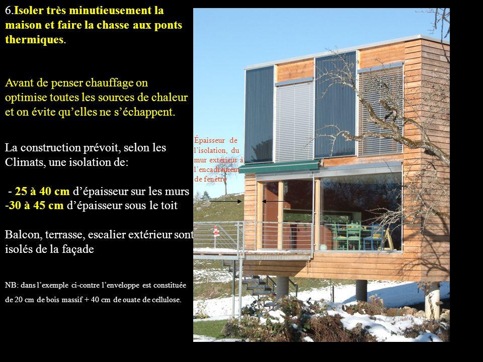 La construction prévoit, selon les Climats, une isolation de: