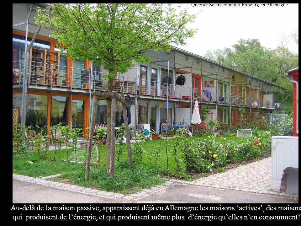 Quartier Solarsiedlung à Fribourg en Allemagne