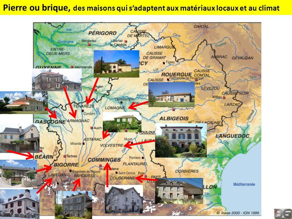 Pierre ou brique, des maisons qui s'adaptent aux matériaux locaux et au climat