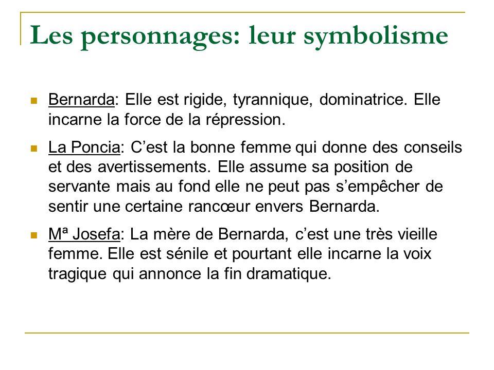 Les personnages: leur symbolisme