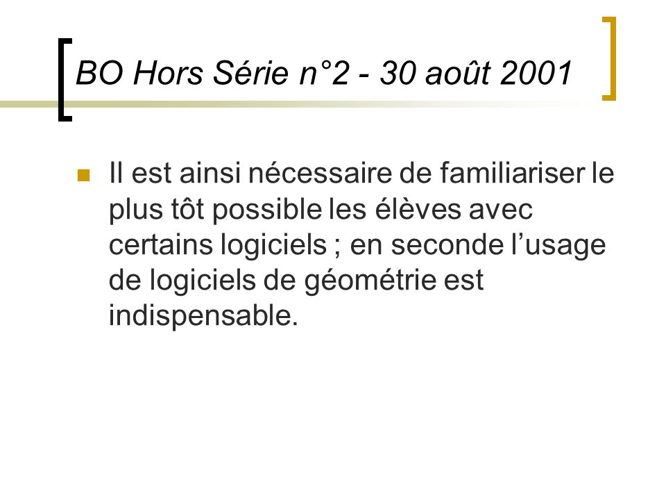 BO Hors Série n°2 - 30 août 2001