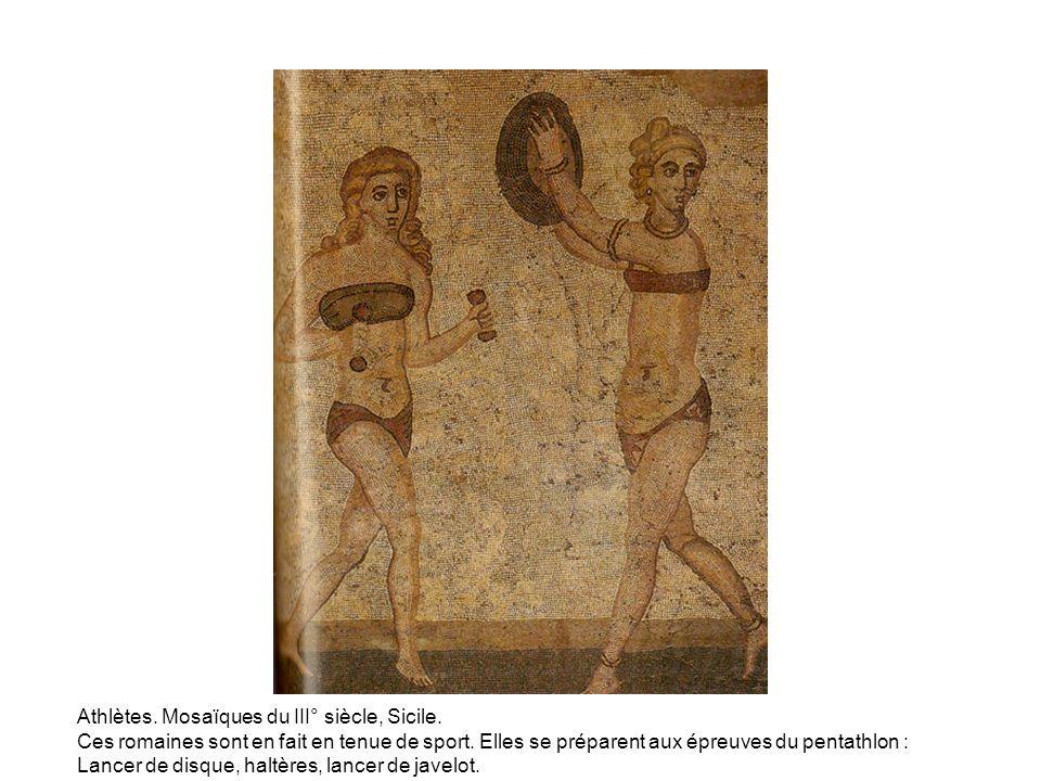 Athlètes. Mosaïques du III° siècle, Sicile.