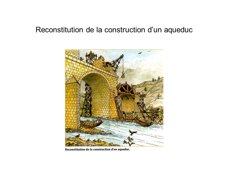 Reconstitution de la construction d'un aqueduc