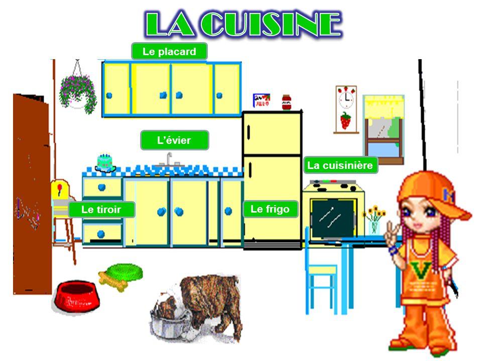 LA CUISINE Le placard L'évier La cuisinière Le tiroir Le frigo