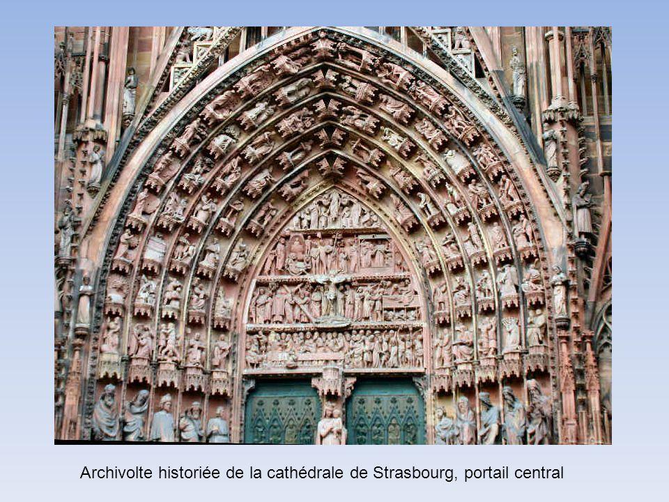 Archivolte historiée de la cathédrale de Strasbourg, portail central
