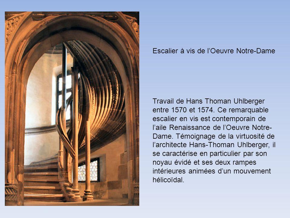 Escalier à vis de l'Oeuvre Notre-Dame