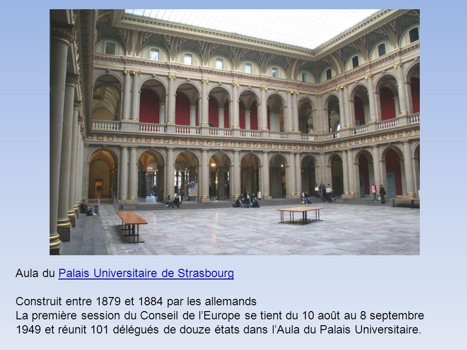 Aula du Palais Universitaire de Strasbourg Construit entre 1879 et 1884 par les allemands