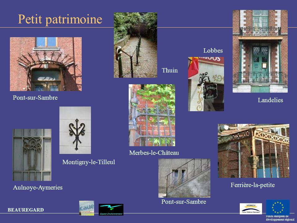 Petit patrimoine Lobbes Thuin Pont-sur-Sambre Landelies