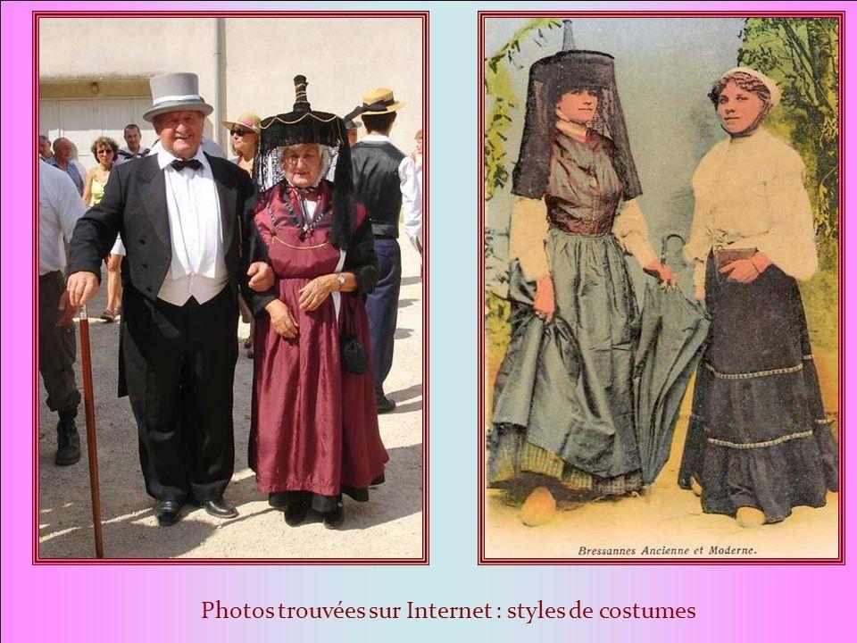 Photos trouvées sur Internet : styles de costumes