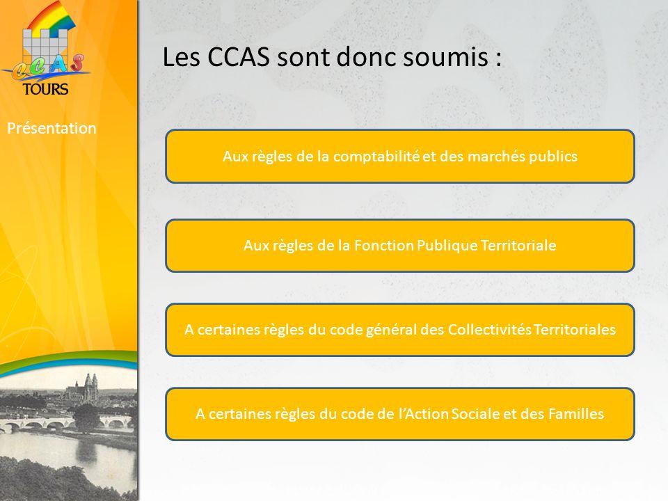 Les CCAS sont donc soumis :