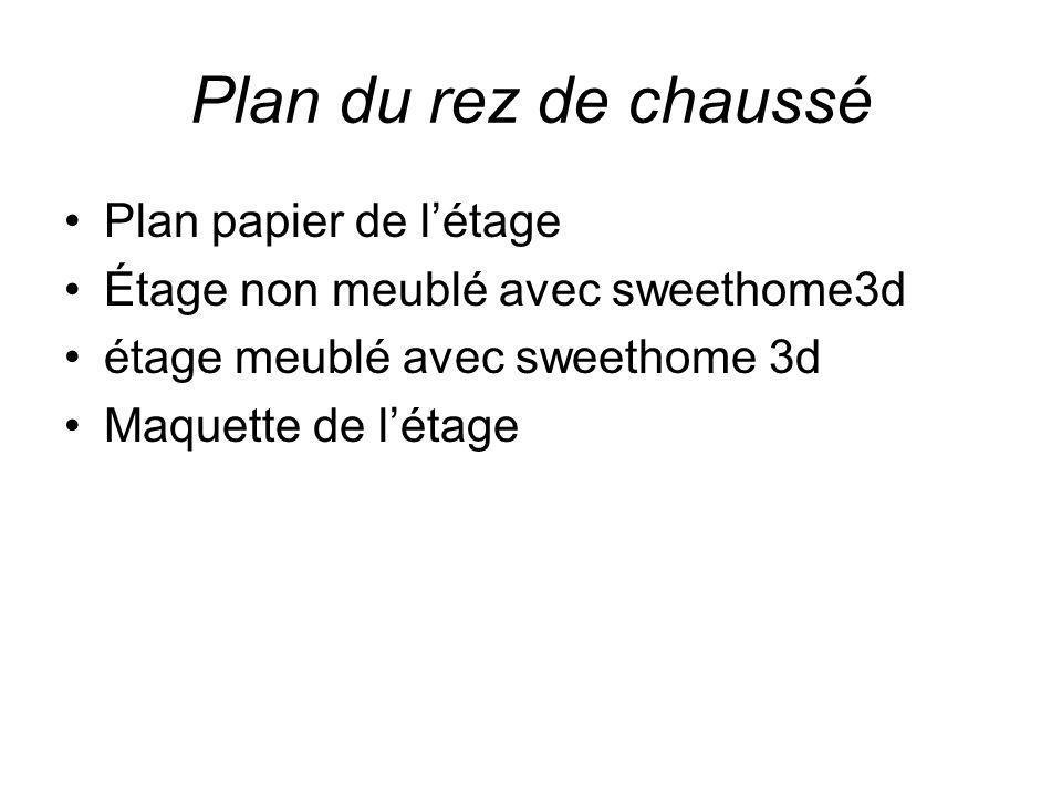 Plan du rez de chaussé Plan papier de l'étage