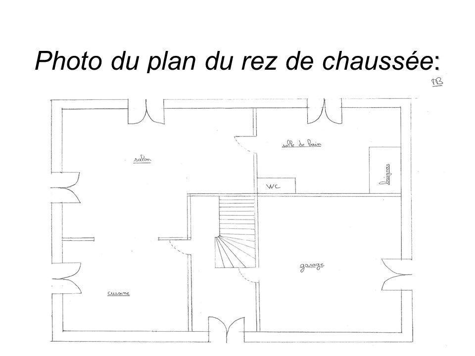 Photo du plan du rez de chaussée: