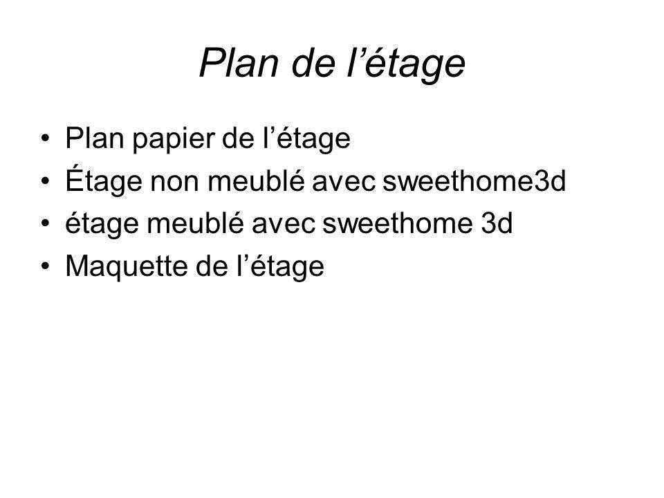 Plan de l'étage Plan papier de l'étage
