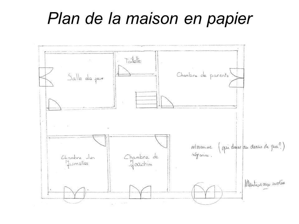 Plan de la maison en papier