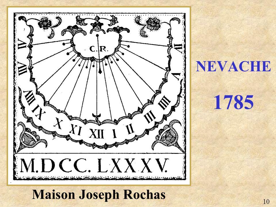 NEVACHE 1785 Maison Joseph Rochas 10