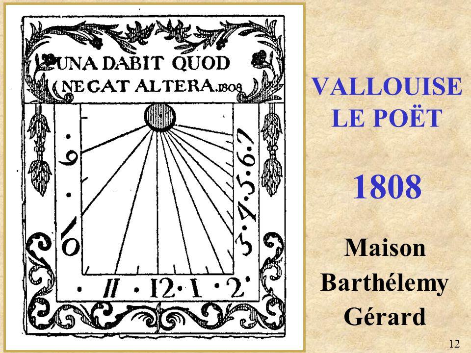 Maison Barthélemy Gérard