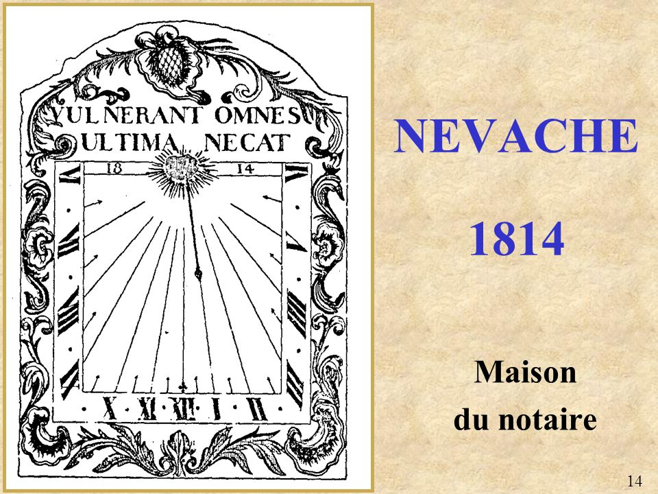 NEVACHE 1814 Maison du notaire 14