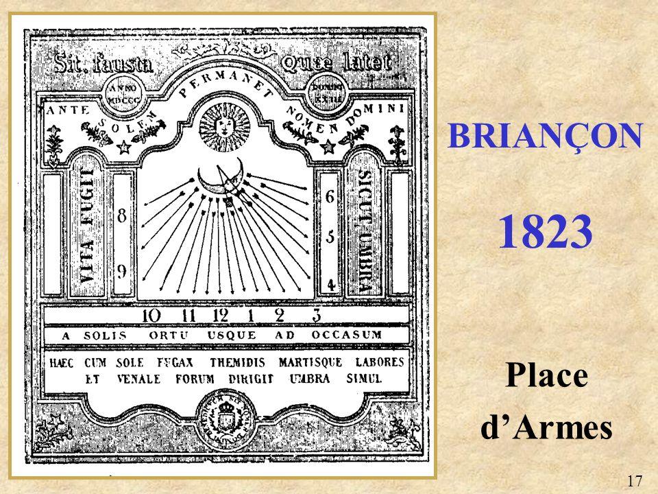 BRIANÇON 1823 Place d'Armes