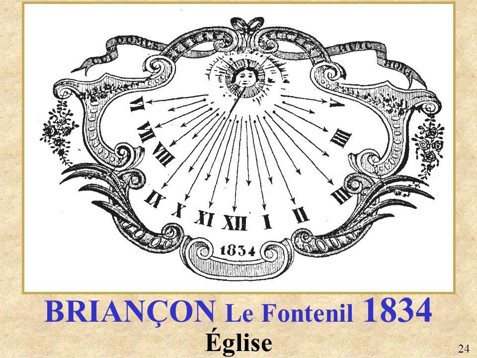 BRIANÇON Le Fontenil 1834 Église 24