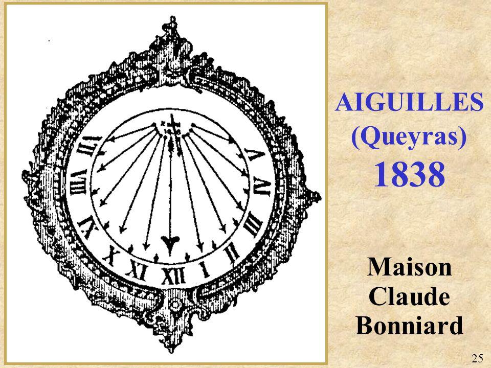 AIGUILLES (Queyras) 1838 Maison Claude Bonniard