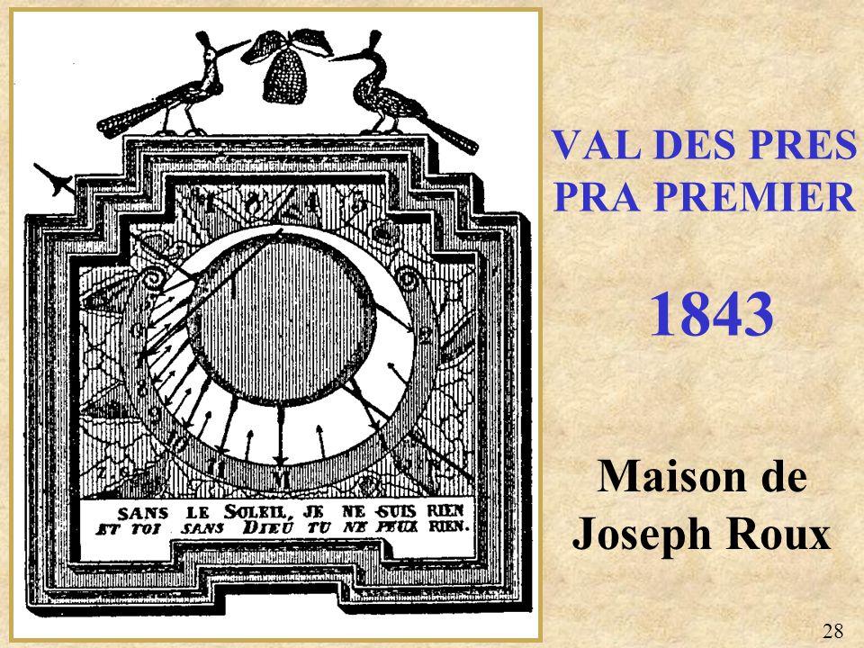VAL DES PRES PRA PREMIER 1843
