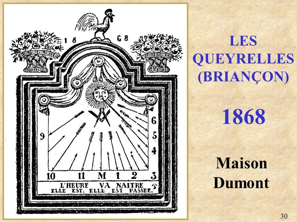 LES QUEYRELLES (BRIANÇON) 1868