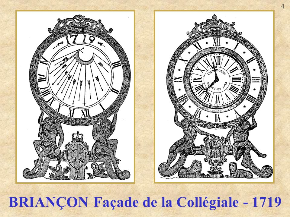 BRIANÇON Façade de la Collégiale - 1719