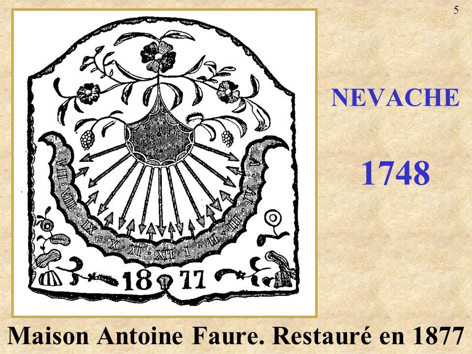 Maison Antoine Faure. Restauré en 1877