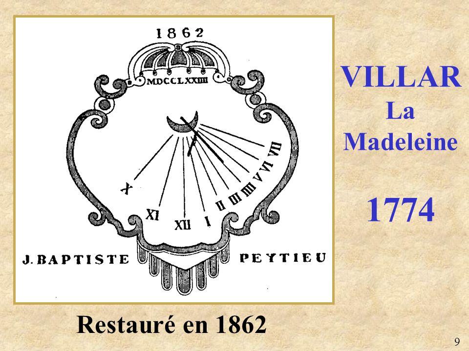 VILLAR La Madeleine 1774 Restauré en 1862 9