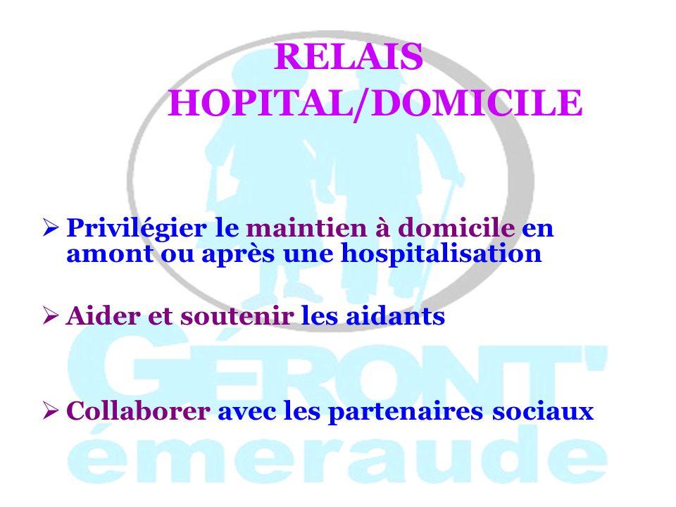 RELAIS HOPITAL/DOMICILE