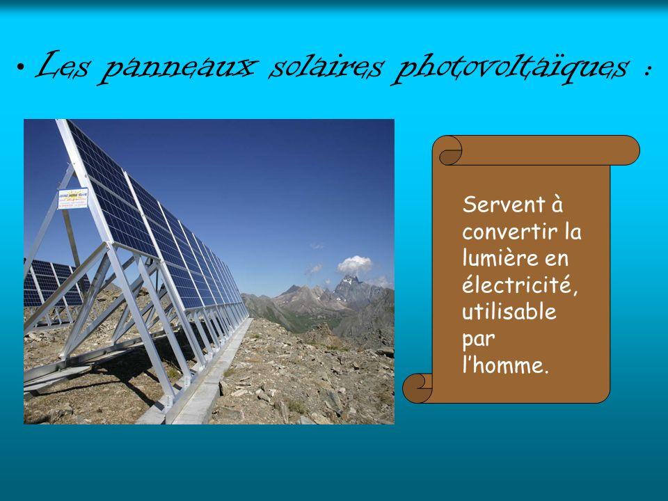 Les panneaux solaires photovoltaïques :